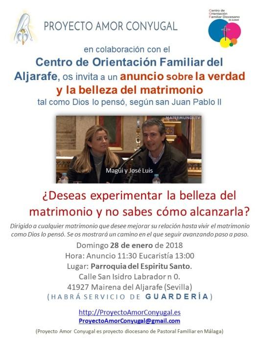 Anuncio Proyecto Amor Conyugal COF_